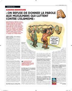 Entretien avec Karima Bennoune paru dans Charlie Hebdo (3 janvier 2018)