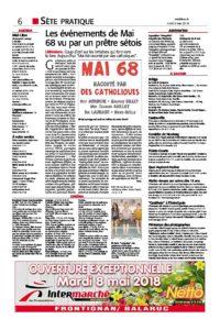 Interview de Gui Lauraire dans Midi Libre